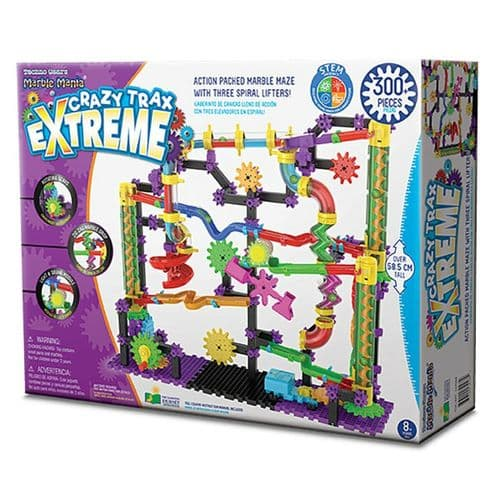Techno Gears Marble Mania Crazy Trax Extreme With 300+ Pieces Construction Set